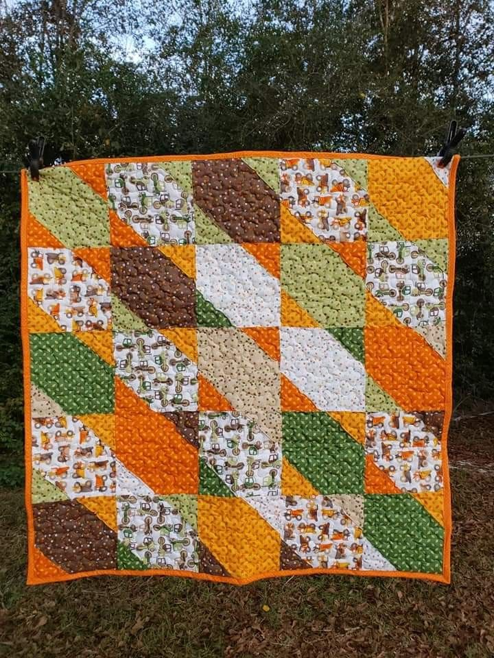 Crazy Lady Quilt Designs: Block 4 will have you seeing stars! |Slanted Star
