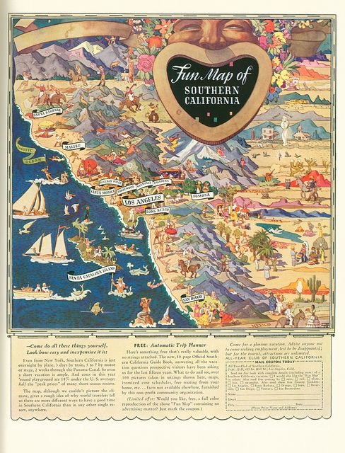 Fun Map Of Southern California Ca California Pinterest - Rivers in southern ca us map