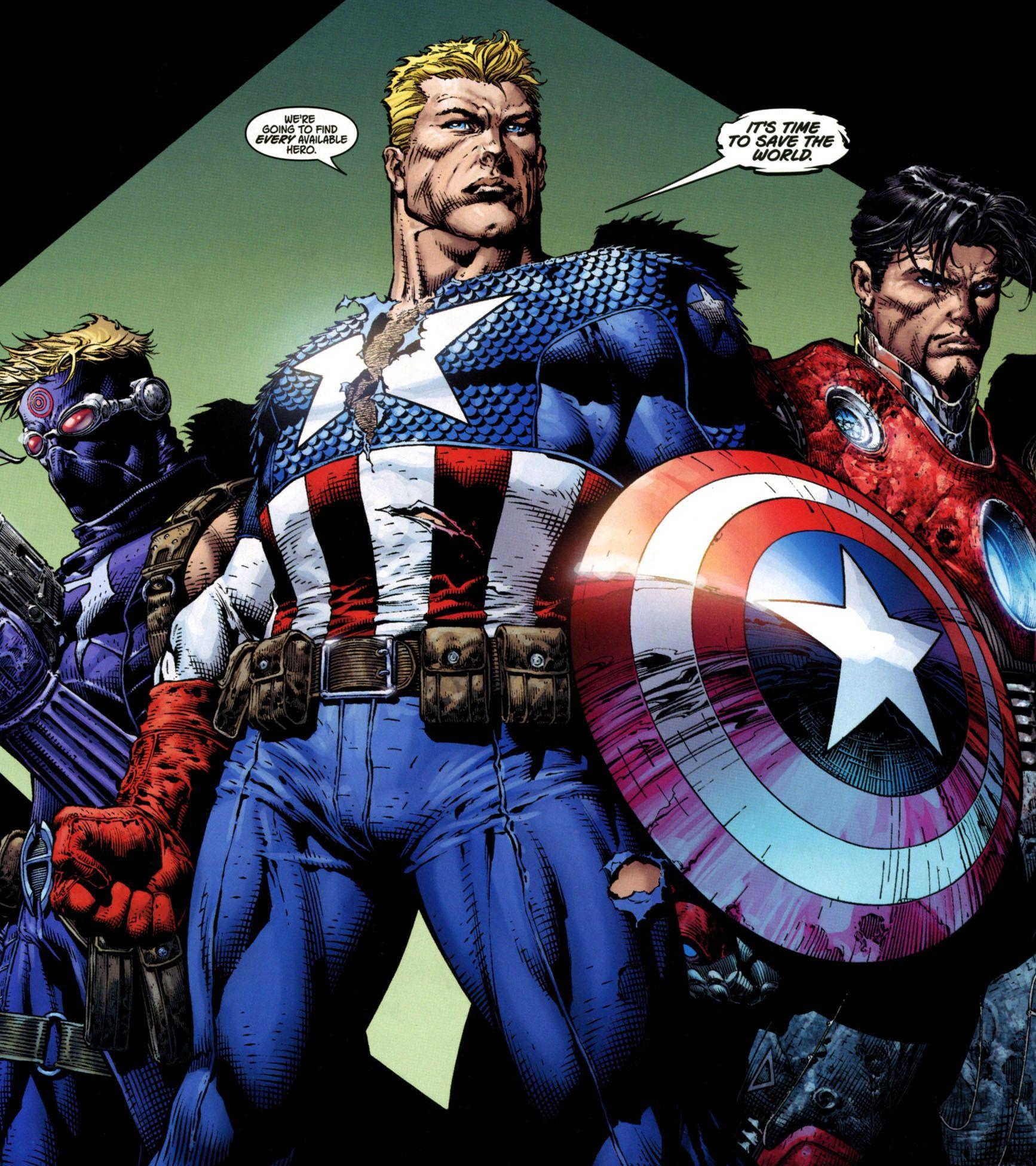 captain america comic book photos | ... man titanium man ironmonger ultimate captain britain captain america
