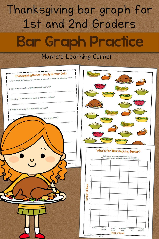 Bar Graph Worksheet: Thanksgiving!   Bar graphs, Worksheets and ...