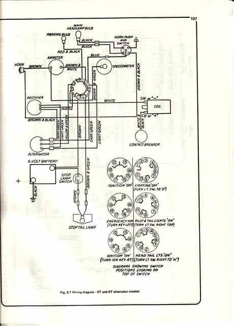 alternator triumph 5t \u002751 triumph bulletin board Xingyue Wiring Diagram