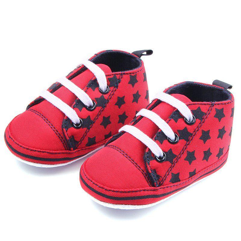 Baby Toddler Soft Sole Crib PreWalker Learning Canvas Shoes Infant Boys Girls