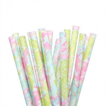 Isabel Floral Paper Straws (set of 24)