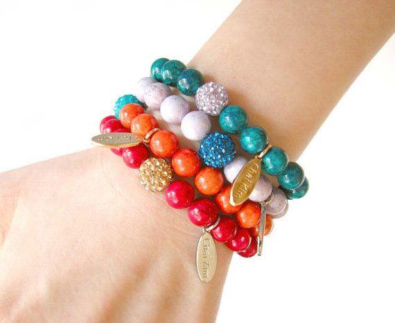 Peridot Beaded stretch bracelet