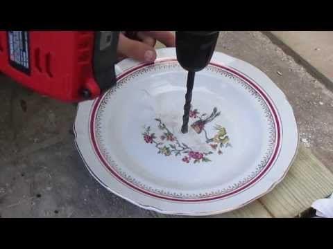 Tuto Comment Percer De La Porcelaine Sans Casse How To Drill Porcelain Without Breaking Youtube Porcelaine Brisee Porcelaine Pots De Fleurs Decores