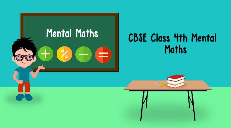 Practice Worksheet Mental Maths for CBSE Class 4 | Mental maths ...