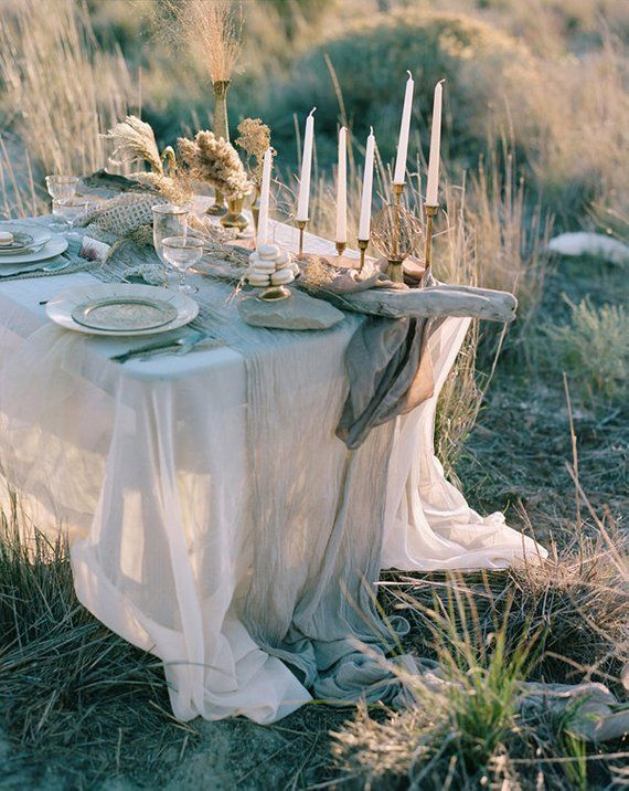 Wedding Table Dcor Cheesecloth cheese cloth Gauze table ...
