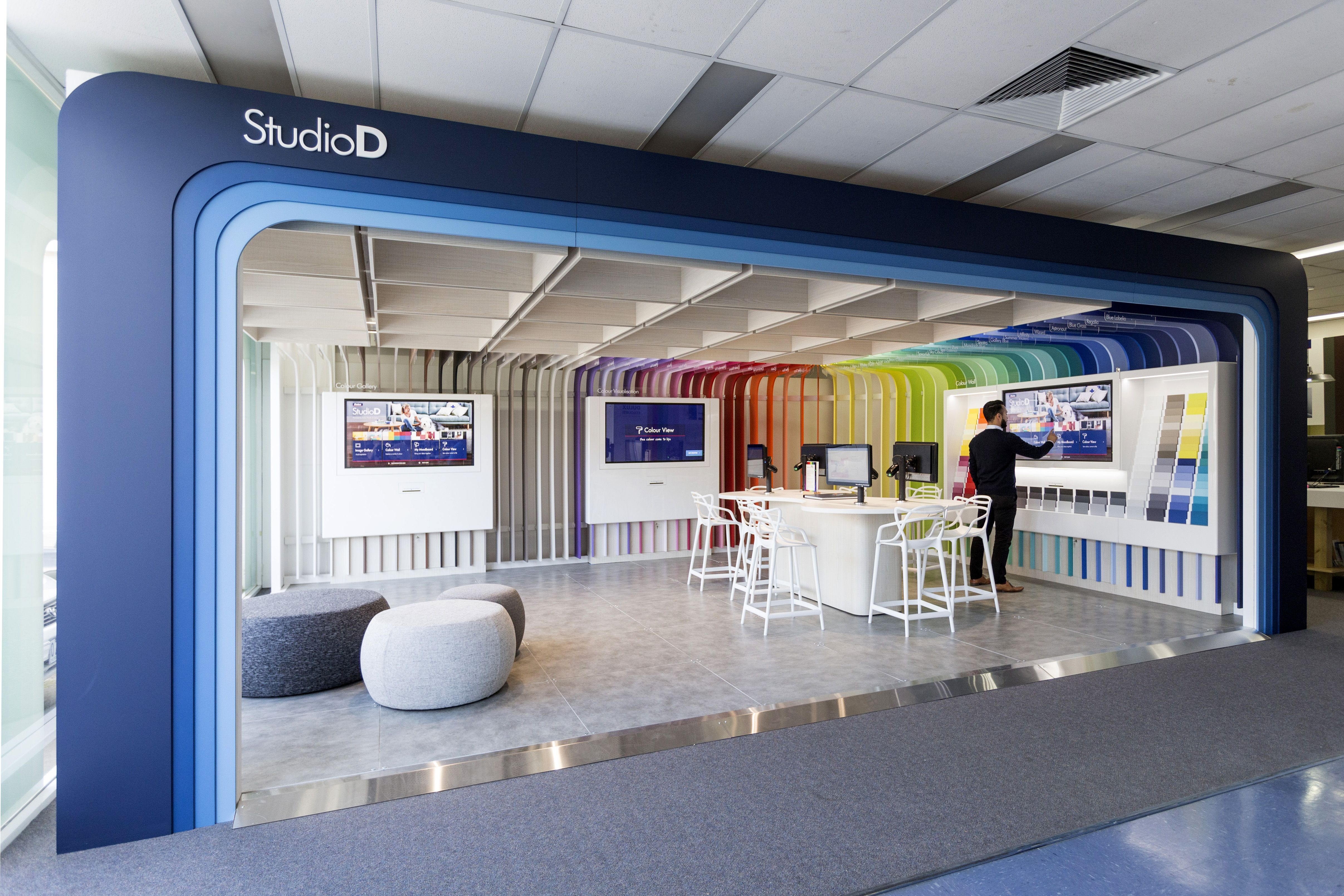 Studio d by e2 and dulux commer shop front pinterest office interior design design and for To the trade only interior design