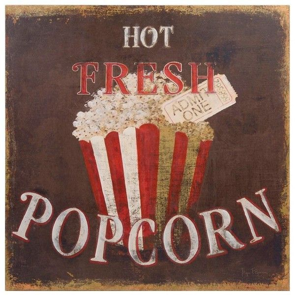 POPCORN VINTAGE CINEMA CANVAS PICTURE PRINT WALL ART HOME DECOR FREE DELIVERY