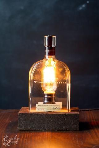 Woodford Reserve Handmade Bourbon Bottle Table Lamp