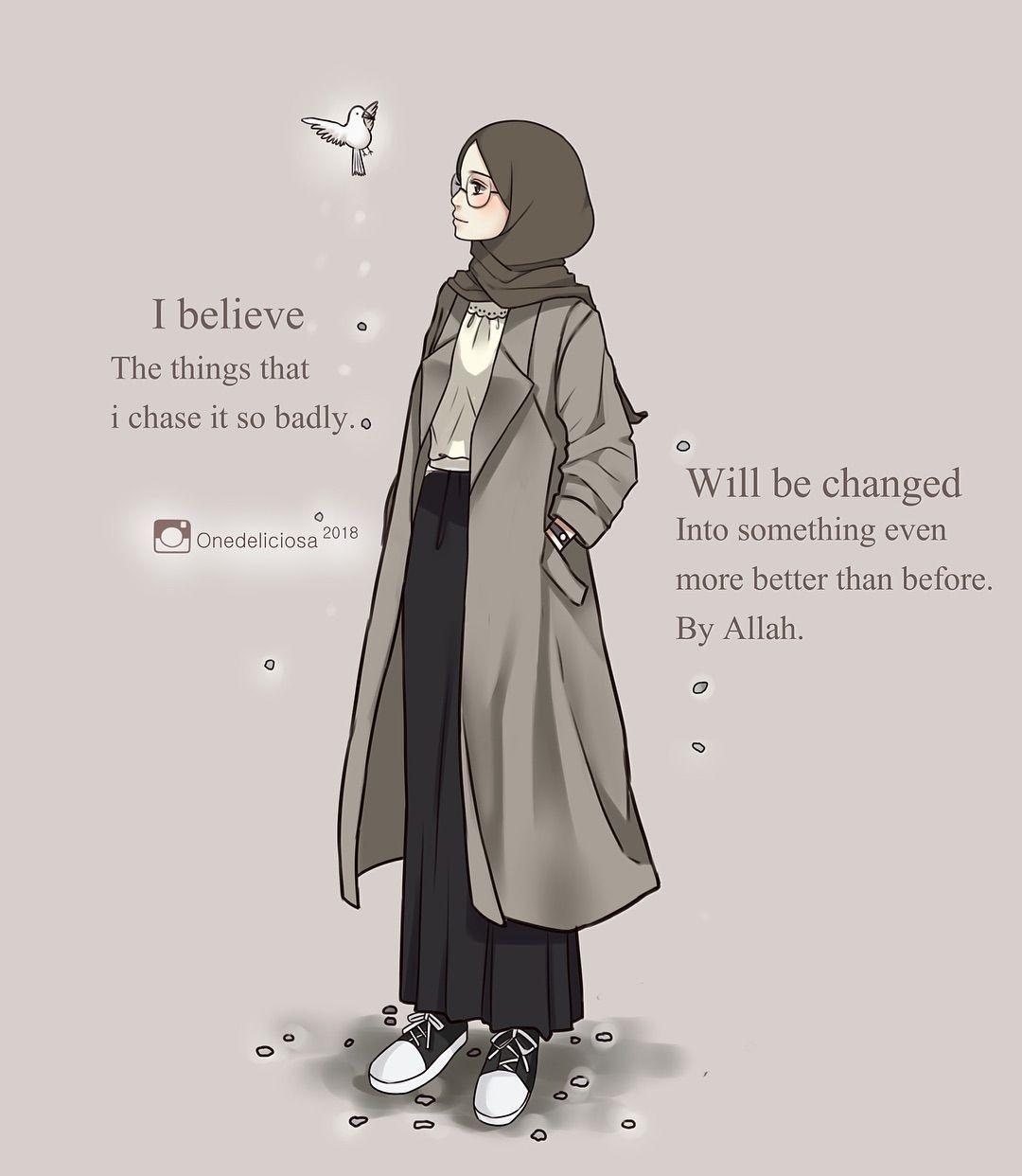 Kartun Muslimah Bersahabat Kartun Ilustrasi Karakter Gambar