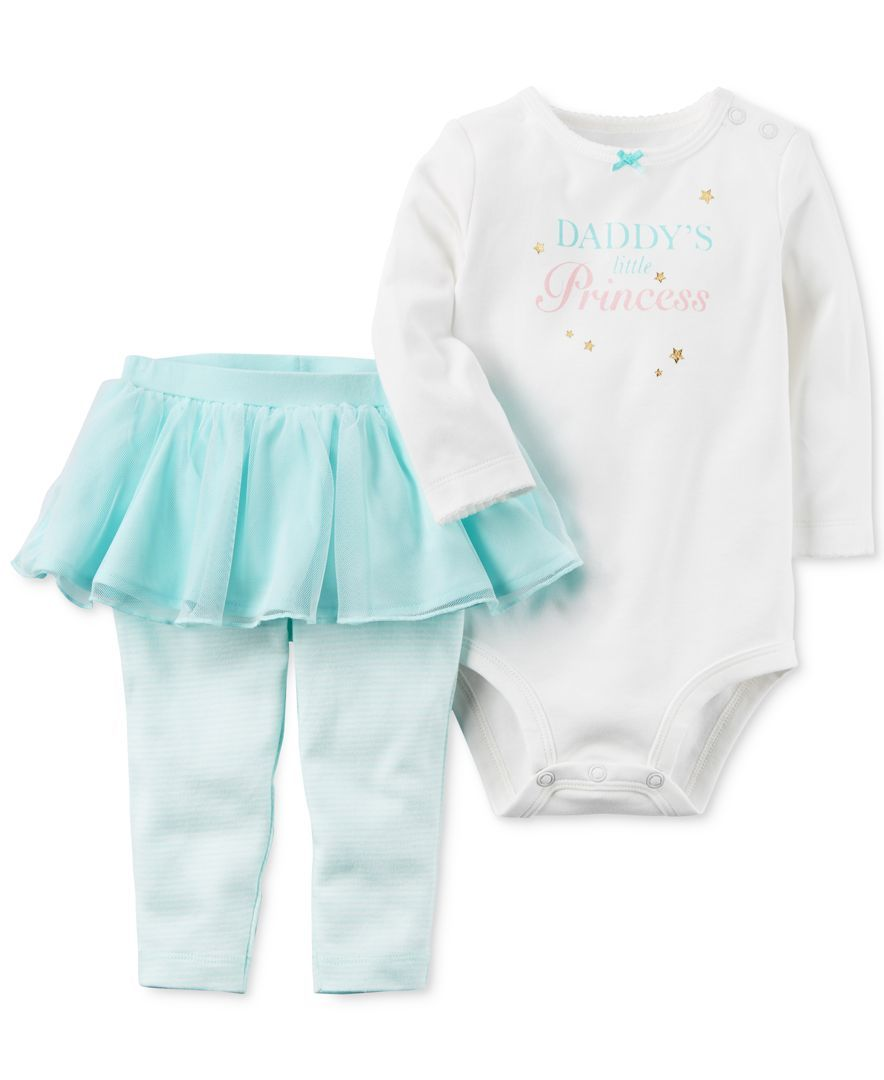 886f9b499 Carter's 2-Pc. Daddy's Little Princess Bodysuit & Tutu Leggings Set, Baby  Girls (0-24 months)
