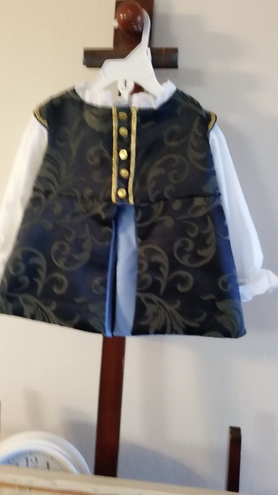 SALE Baby 18 months navy blue and grey accent Satin by Aelabaras