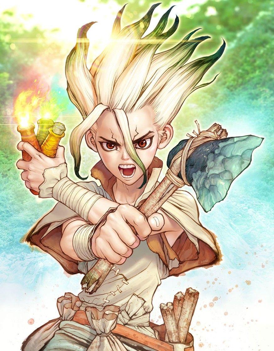 Dr. Stone Ilustração de mangá, Anime, Personagens de anime