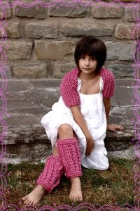 """Ballerina"" coprispalle e scaldamuscoli ""Little Dancer"" Shrug&Legwarmers"