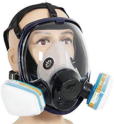 Chemical Respirators Trustful Chemical Mask Gas Mask Acid Dust Respirator Paint Pesticide Spray Silicone Filter Lightweight Full Face