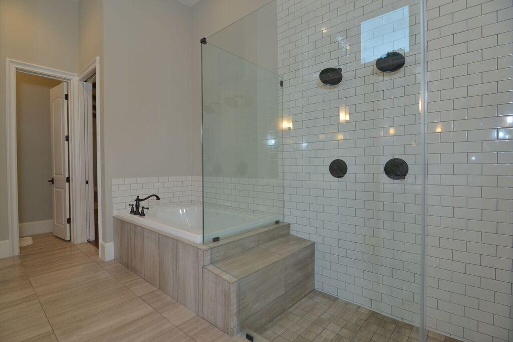 An all glass shower visually creates a larger bathroom. | Bathtubs ...