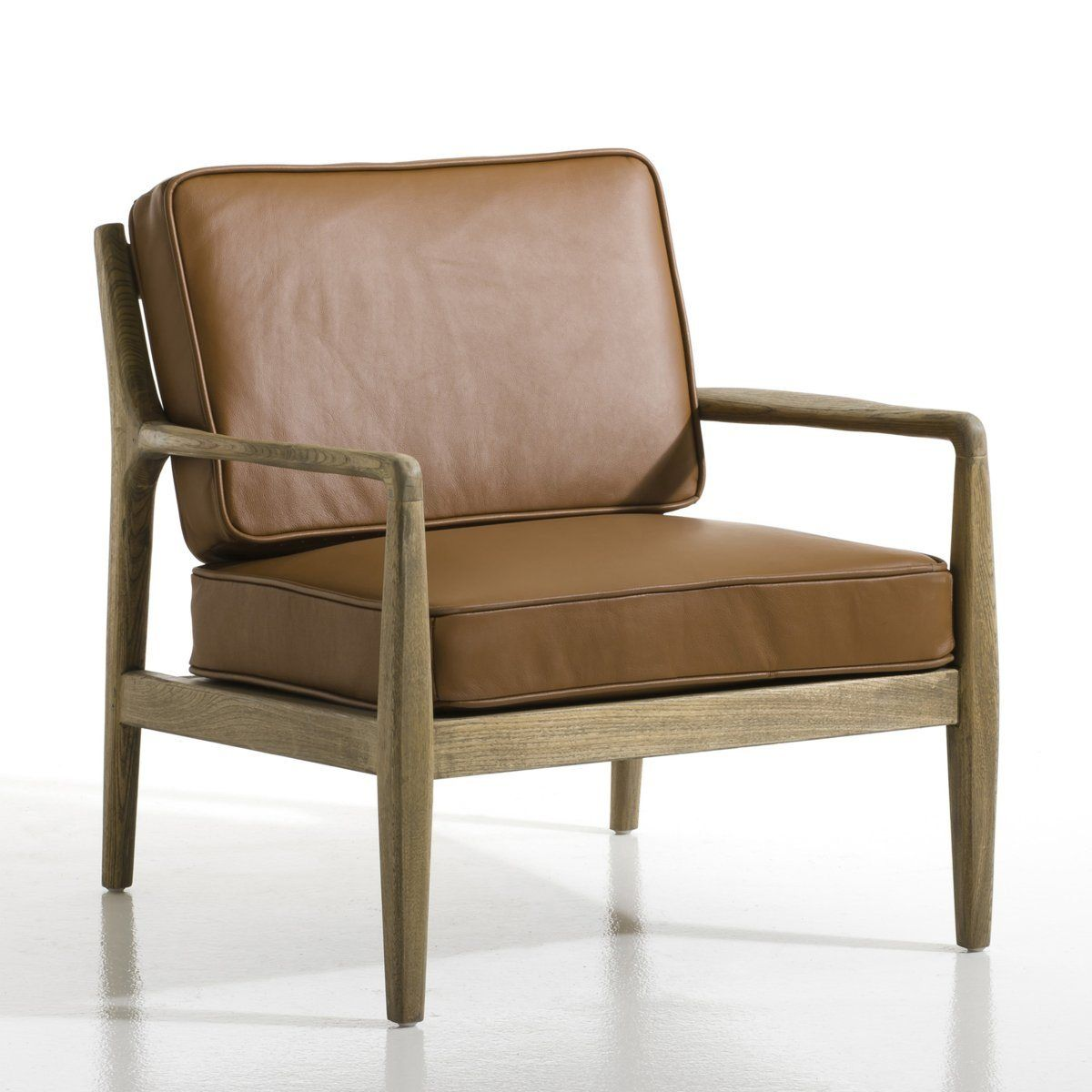 Fauteuil Dilma Cuir AmPm Bureau Pinterest Fauteuils Cuir Et - Petit fauteuil cuir design
