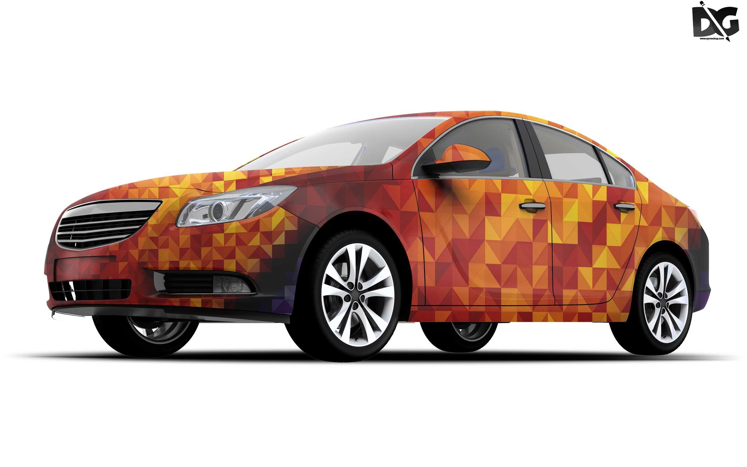 Free Sedan Car PSD Body Design Mockup Mockup free psd