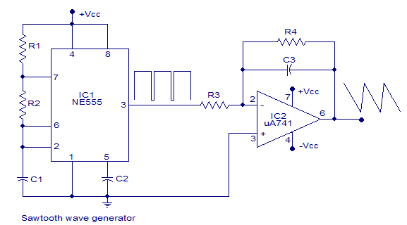 sawtoothwavegenerator can be constructed using transistor and a