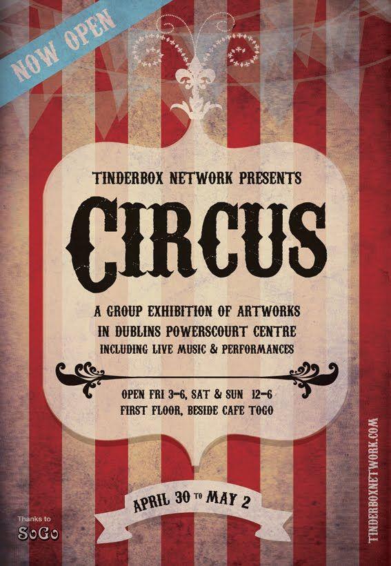 tinderbox presents circus poster