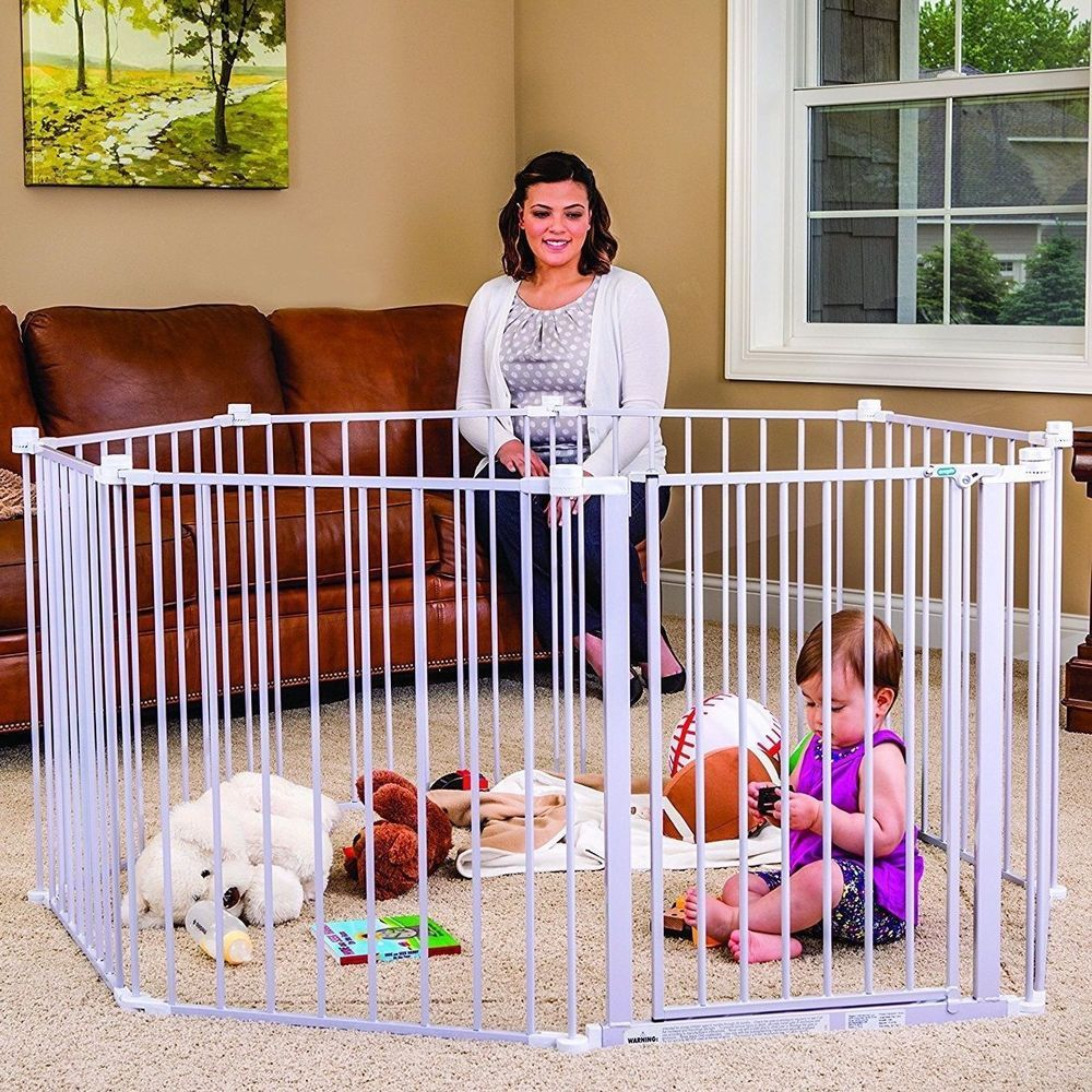 Regalo 192inch Super Wide Baby Gate & Play Yard in White