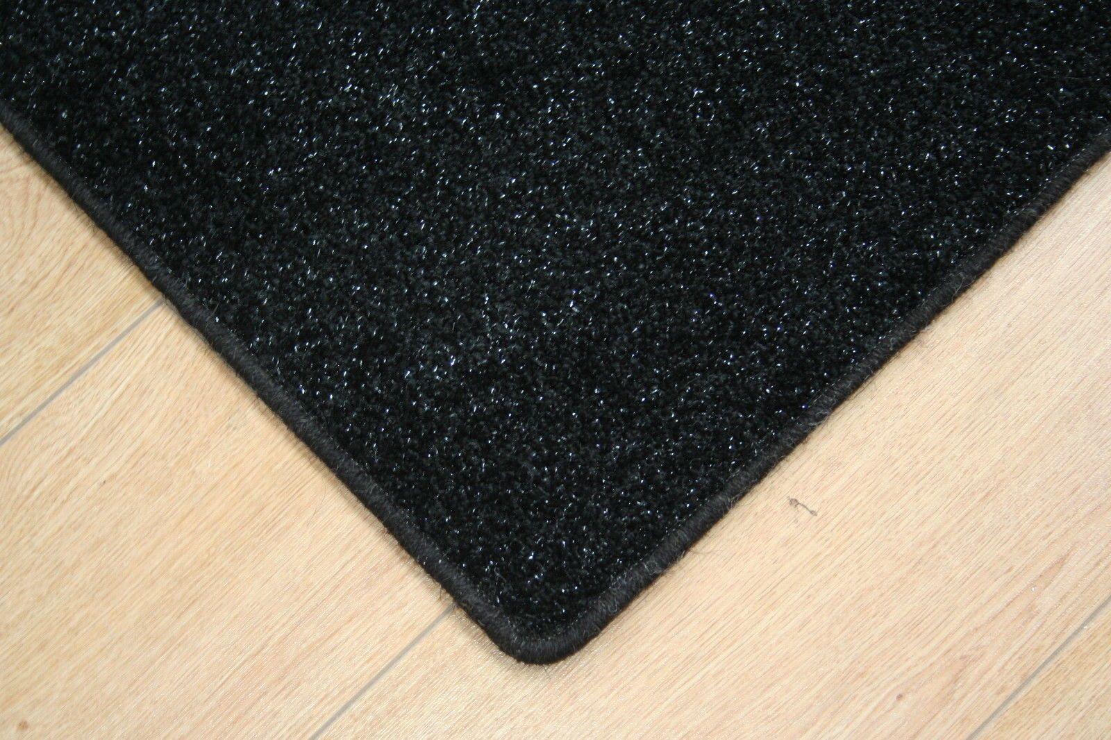 Black Glitter Rug