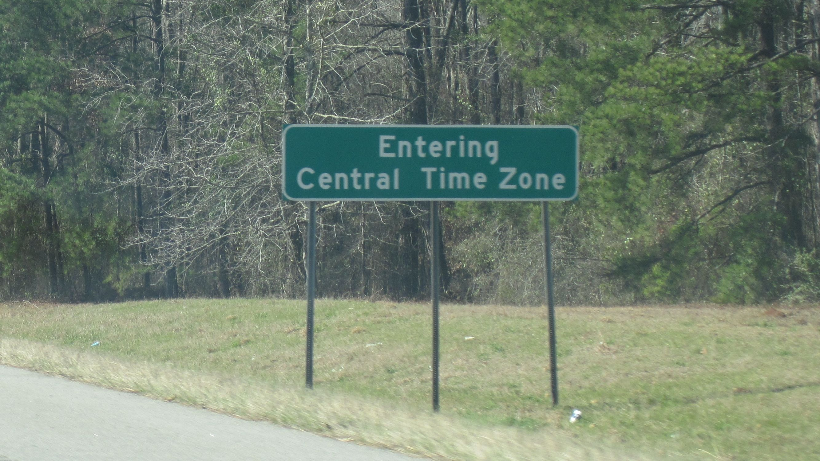 Entering Central Time Zone Entering Central Time