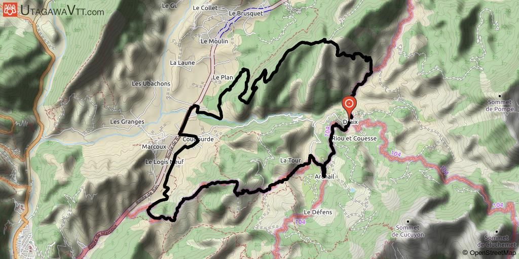 Alpes De Hautes Provence Rando Vtt Domaine Vtt Provence Alpes Secteur Digne Les Bains Circuit N 16 Les Terres Noires Digne Les Bains Alpes De Haute Provence Randonnee Vtt