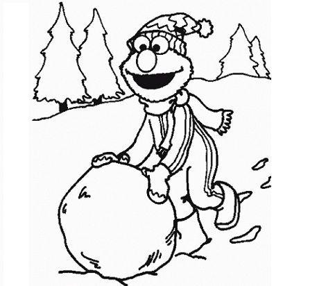 Elmo: dibujo de navidad para colorear. #elmo #Christmas #Kids ...