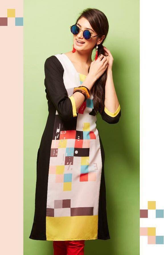bfe97a8856 Psyna Princess Vol-4 Rayon Kurtis (10 pc catalog) | Wholesale Kurtis ...
