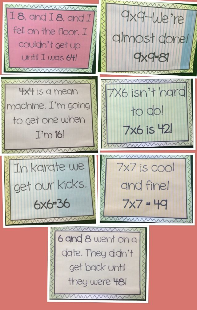 Multiplication Rhymes | Teaching Stuff: #3JasperDays | Pinterest ...