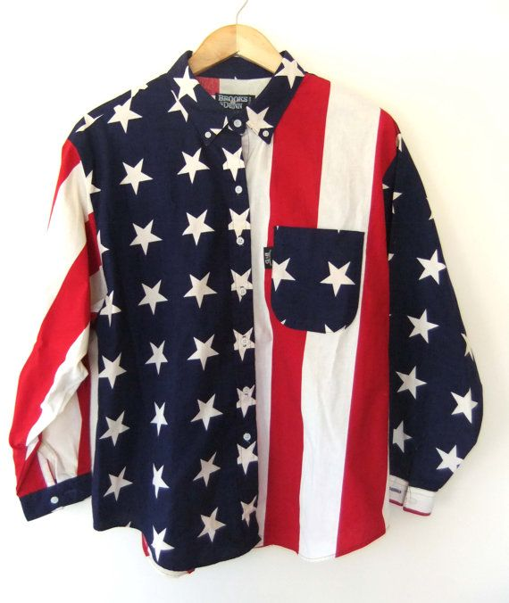 Vintage American Flag Button Up By Brooks Dunn Usa Vintage American Flag Clothes Fashion