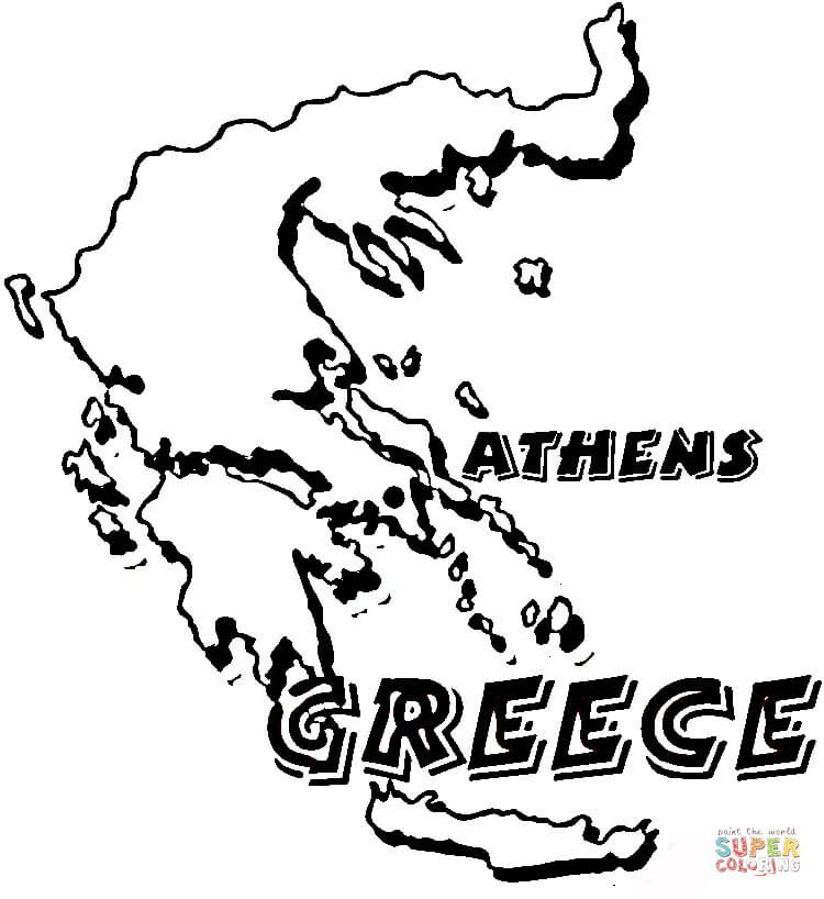Map Greece Coloring Page Free Printable Coloring Pages Free