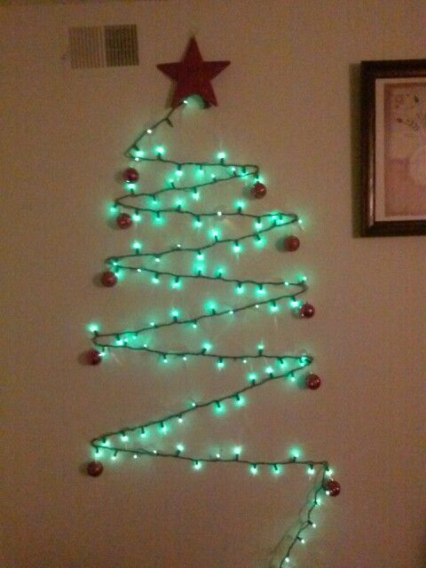 Holiday Lights Wall Christmas Tree Items Needed One Pkg Command Wall Hooks Sma Christmas Mantel Decorations Christmas Lights Etc Lantern Christmas Decor