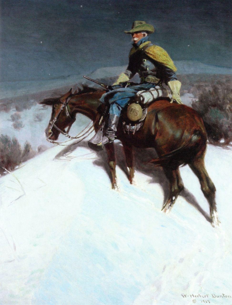 The Vidette - Custer Trooper (W. Herbert Dunton - 1914)