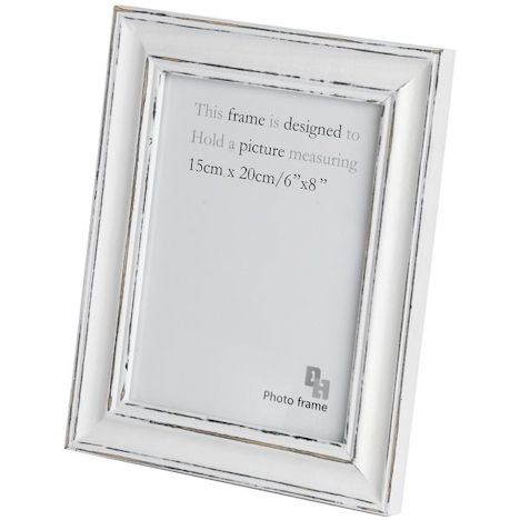 Campagne Shabby Chic 6 X 8 Photo Frame White Photo Frames Photo Frame Hill Interiors