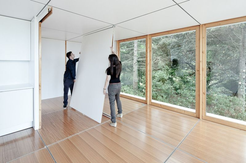 Moveable Reconfigurable Walls Very Cool For Tiny Houses And Studio Designs