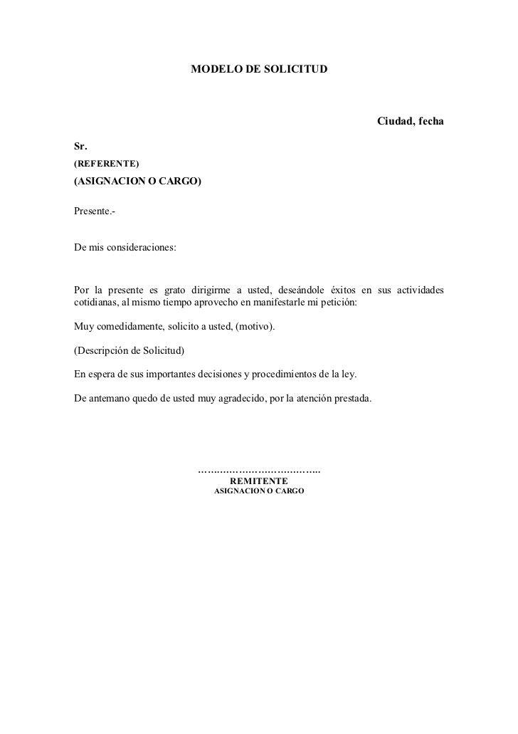 Modelo de solicitud | Carta de permiso al director | Pinterest ...