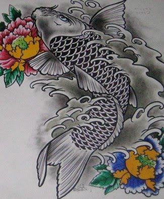 Dragon koi fish koi fish dragon tattoo meaning asian for Koi dragon tattoo meaning