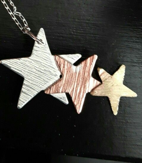£30 silver, copper and brass star necklace. #stars #necklace
