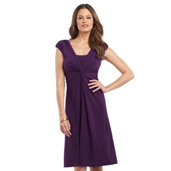 f29650979ae8 Chaps Knot-Front Empire Dress. Chaps Knot-Front Empire Dress Petite Wedding  Guest Dresses