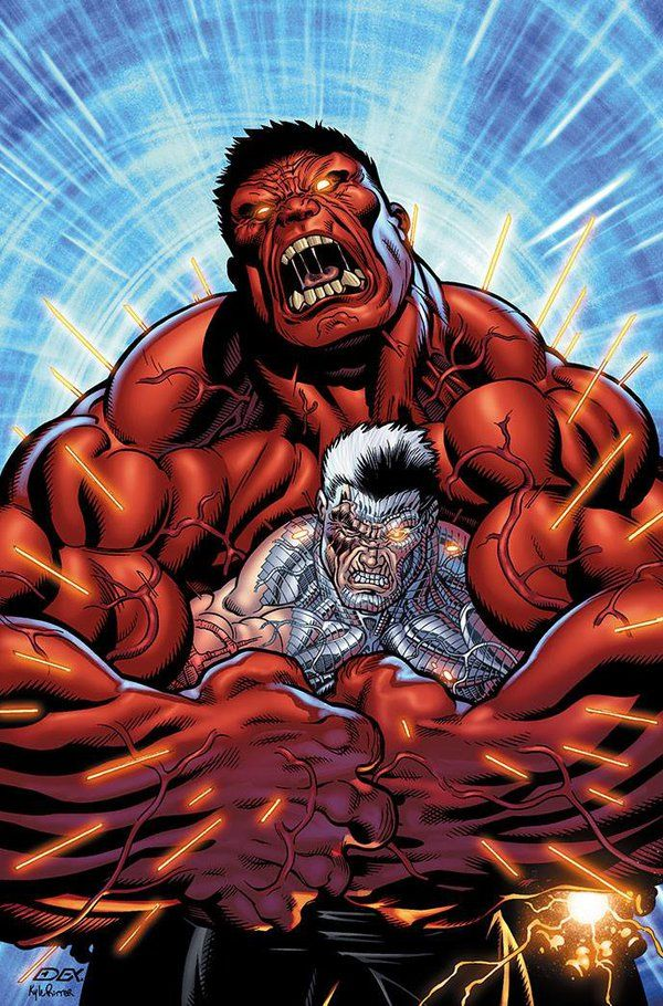 Red Hulk and Cable by xXNightblade08Xx.deviantart.com on @DeviantArt