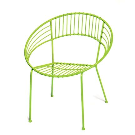Round Metal Chair In Lime (also Pink, Turquoise, And Ivory