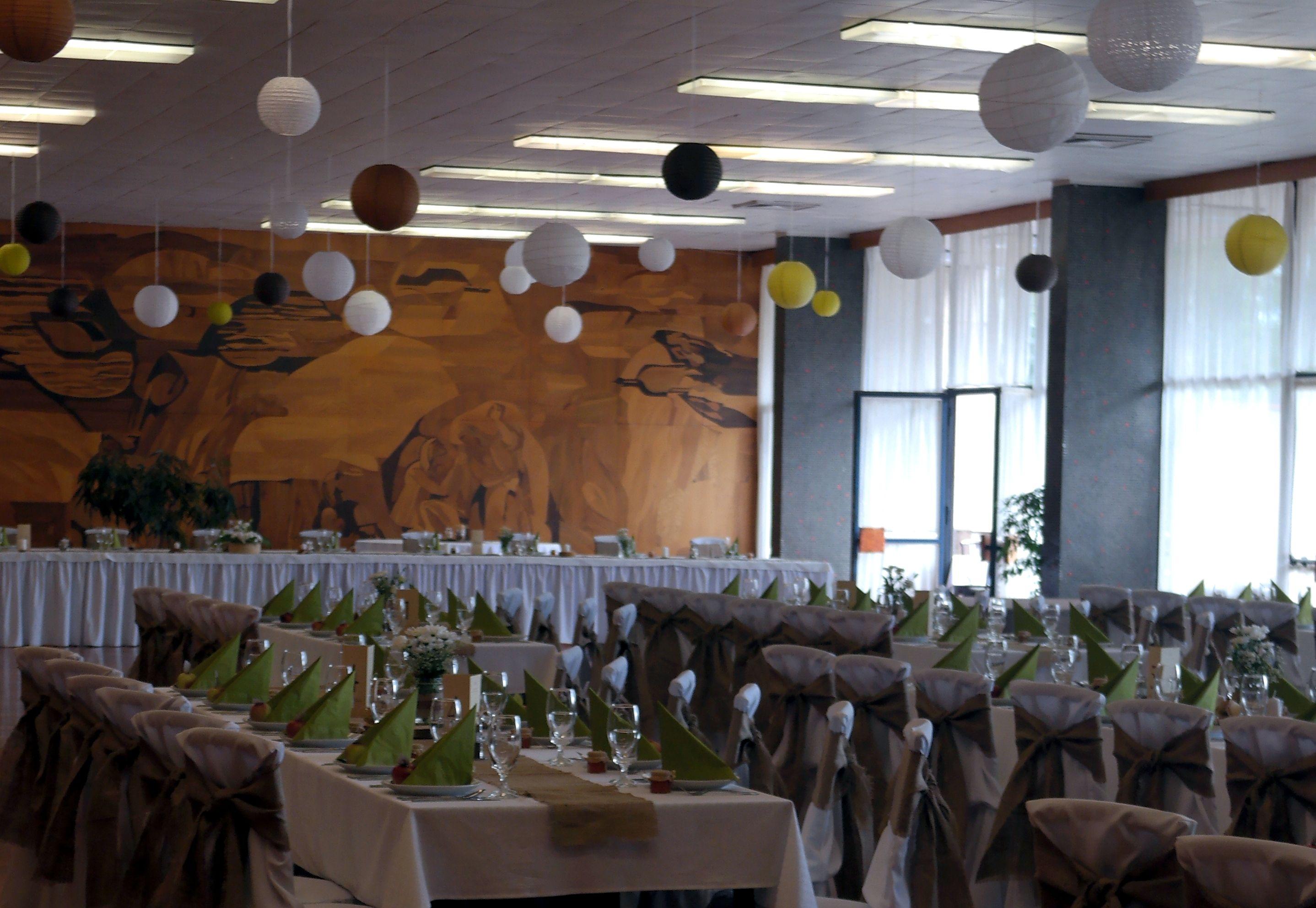 teremkép Rusztikus esküvői dekoráció, Rusztikus