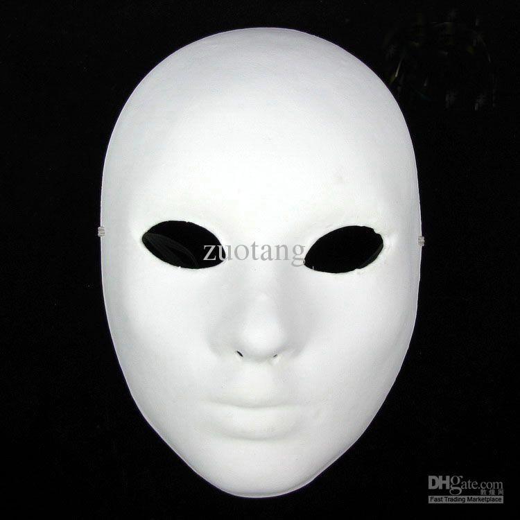 Plain Masquerade Masks To Decorate Thicken Women Plain White Masks To Decorate Full Face