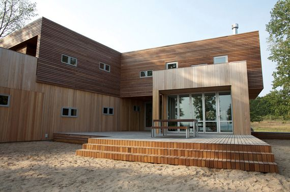Flat Roof House Pictures Sustainable Design Ideas Lake