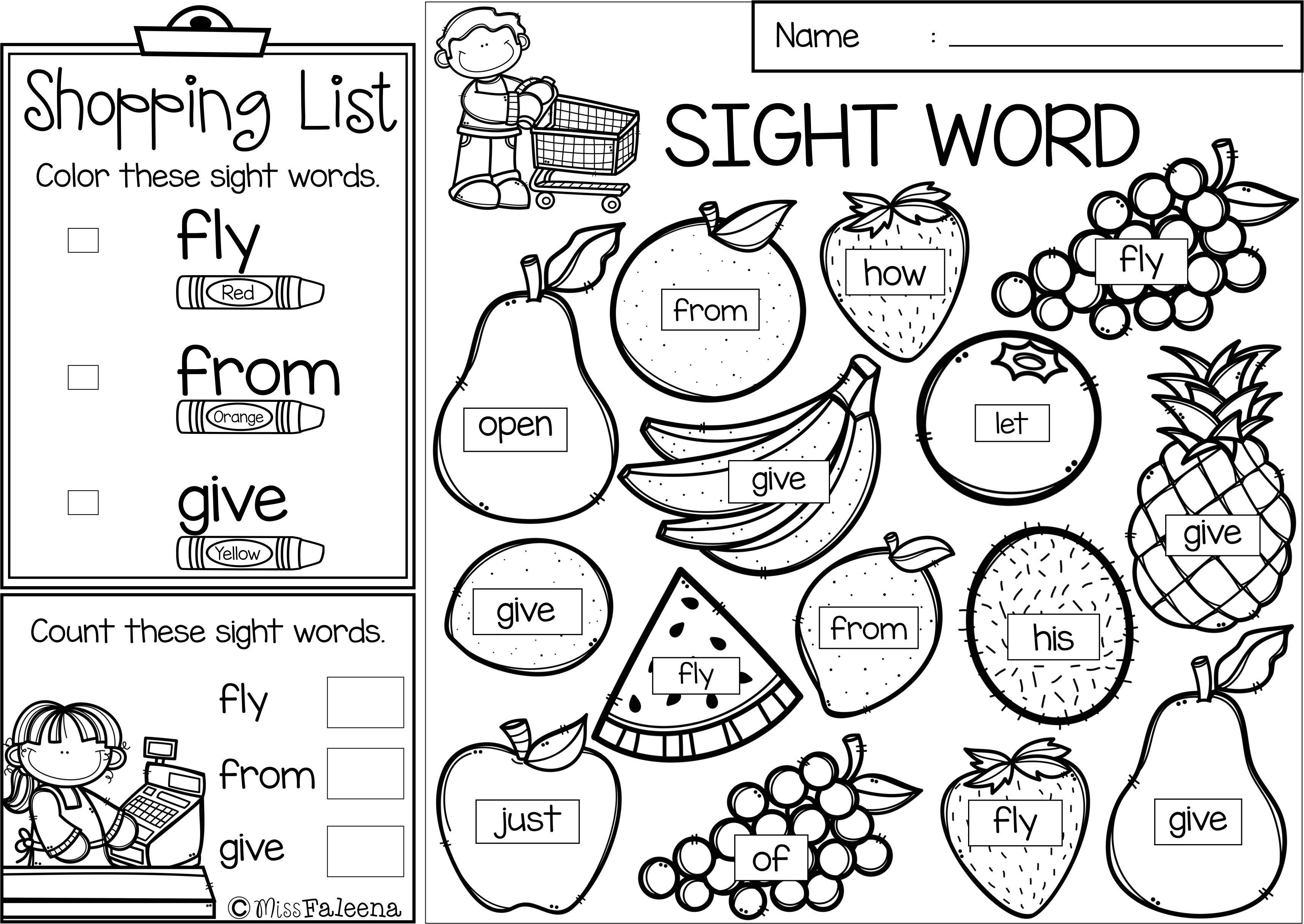 Sight Word Shop Find Color The Bundle Sight Words Sight Word Worksheets First Grade Sight Words [ 2428 x 3428 Pixel ]