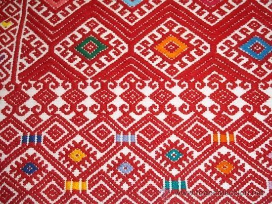Artesania mexicana tapete bordado a mano motivo for Alfombras persas en mexico