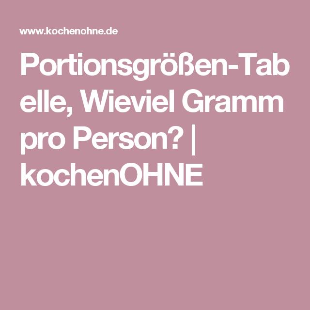 Portionsgrossen Tabelle Wieviel Gramm Pro Person Kochenohne Portionen Portionsgrosse Fleisch Pro Person